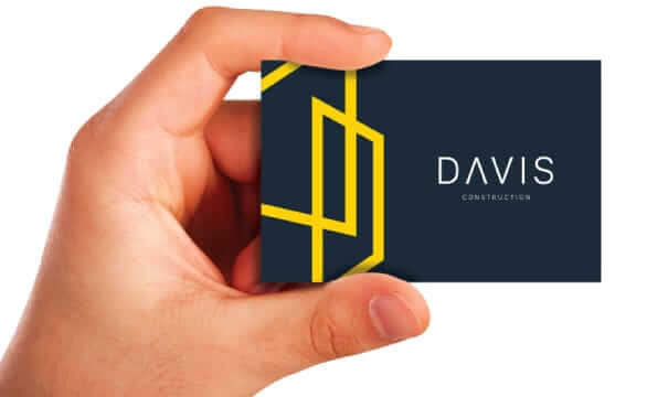 Davis Construction Business Card